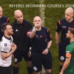 Referee Beginners Courses 2018